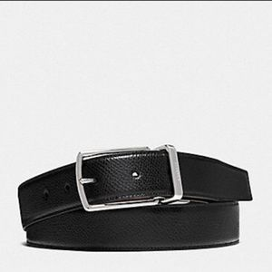 Coach Cut-to-Size Reversible Leather Belt One Size